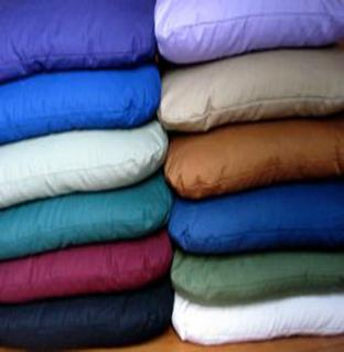 Zabuton's are available with Kapok or Buckwheat, with natural or certified organic cotton exteriors.